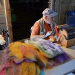 RiversleaFiberFest_workingwithroving2